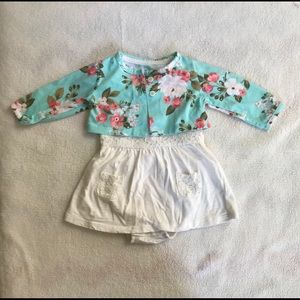 Other - White Dress w/ Floral Jacket